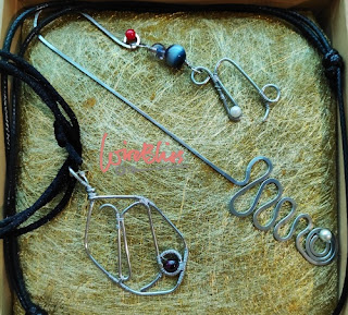 wire wrapped horoscope pendants and bookmark and  in the box