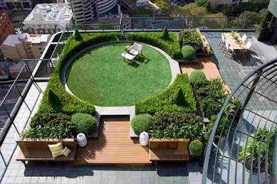 Tukang Taman Surabaya Roof garden