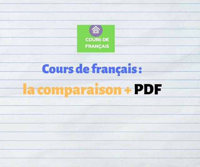 Cours de français : la comparaison cours pdf