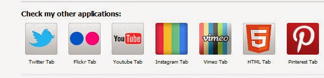 Buttons include social networking sites within the Facebook page