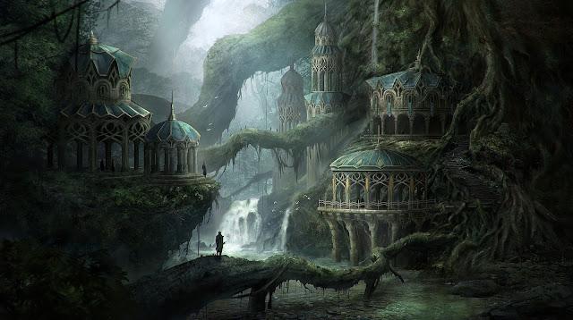 La ciudad elfa de Bel'ashir - Ciudad