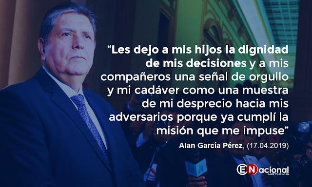 Expresidente Alan García Pérez