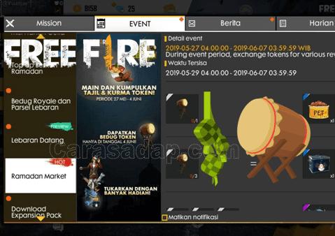 Cara mendapatkan bedug di free fire