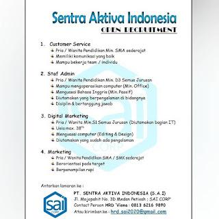 4 Lowongan di PT Sentra Aktiva Indonesia