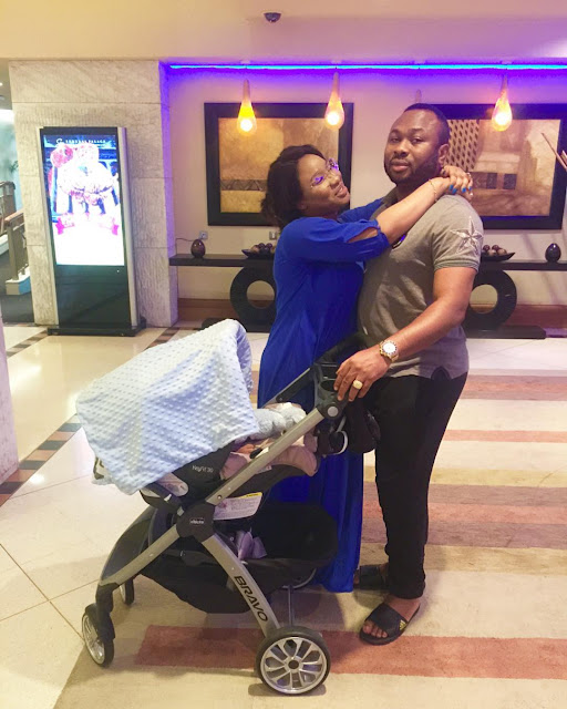 Tonto Dikeh Churchill Shares Loved Up Photos Of Her Family As Her Turns 7-Months-Old.