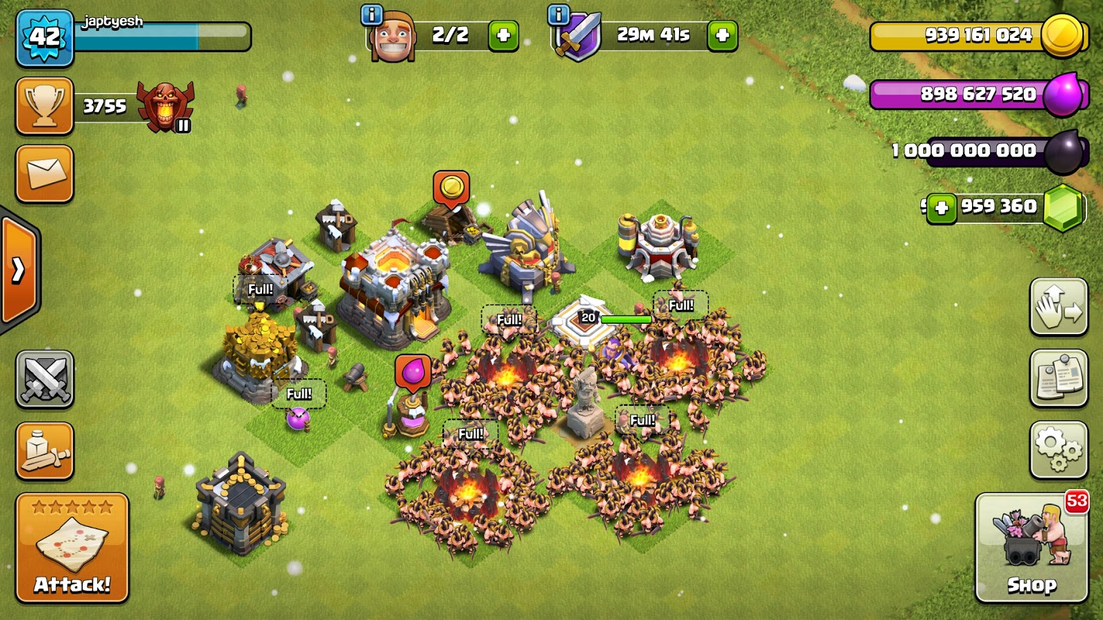 clash of clans mod apk unlimited gems and coins