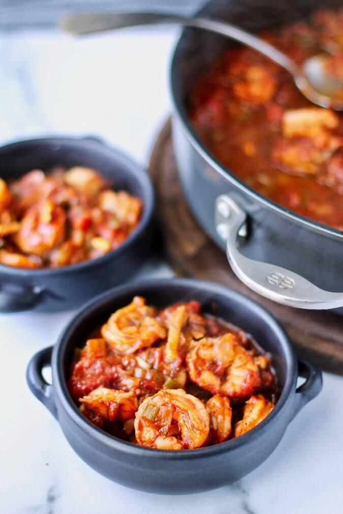Shrimp in Tomato and Chile Sauce