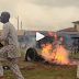 Watch Video: Masquerade Set Ablaze In Oyo Town; What Happened Next Will Shock You