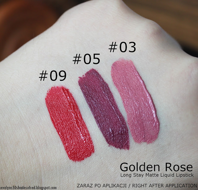 Golden Rose Long Stay Matte Liquid 03 05 09