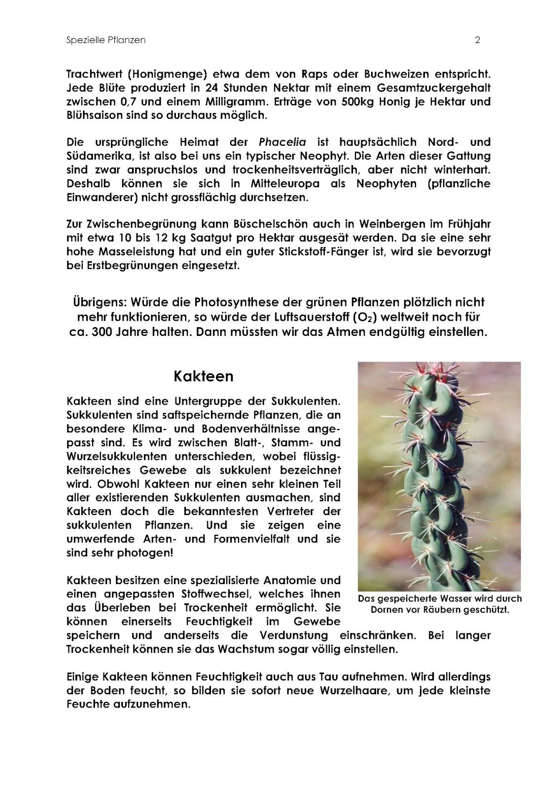 Simba-Broschüren: 138. Spezielle Pflanzen