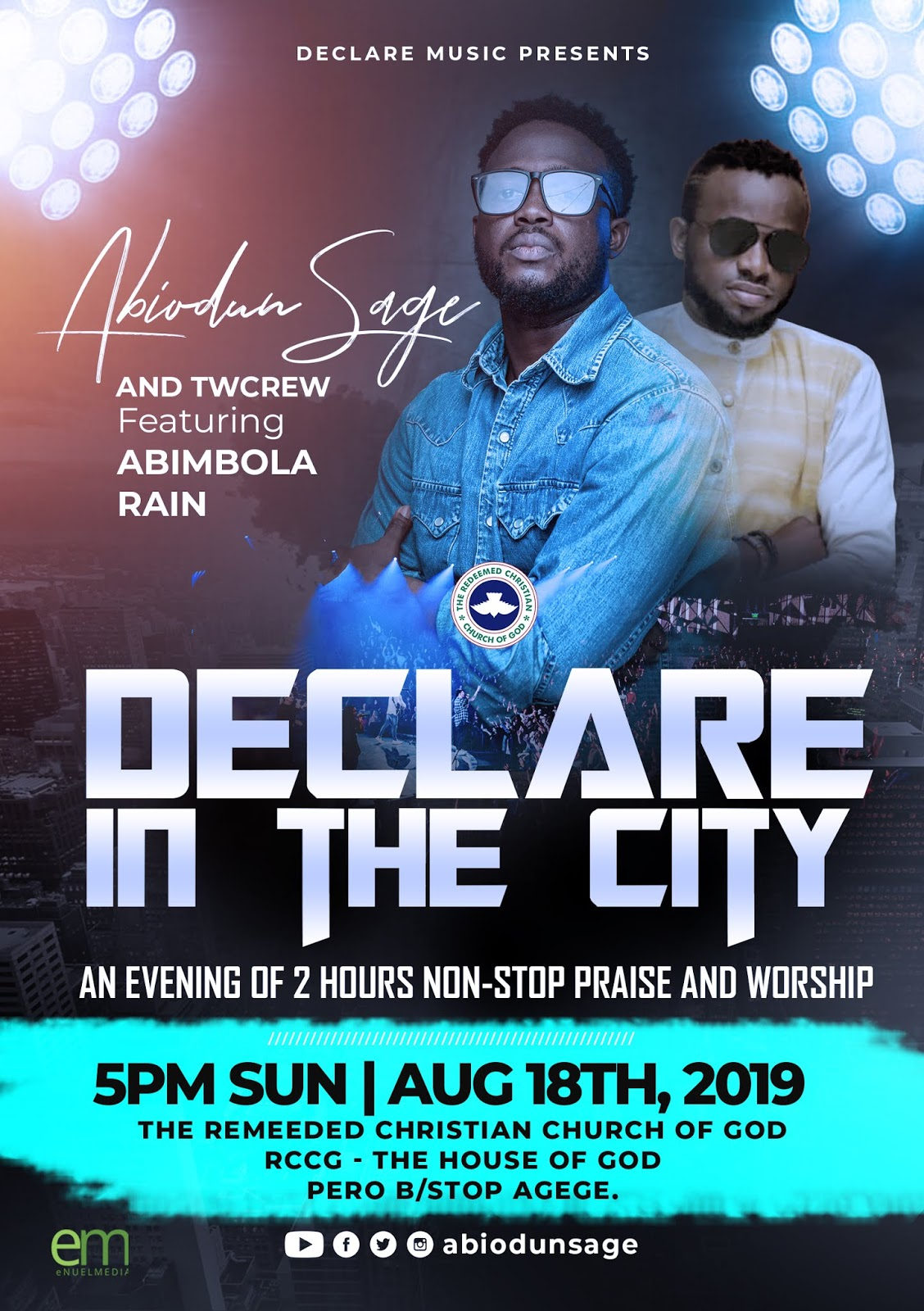 Event: Declare in the City 5.0 by Abiodun SAGE Features Abimbola Rain