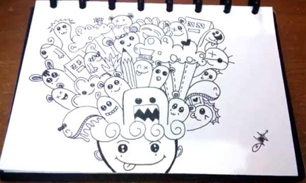 Contoh Doodle Art  Contoh Bee