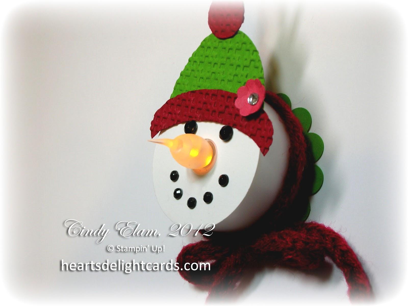 Heart S Delight Cards Snowman Tea Light Ornament