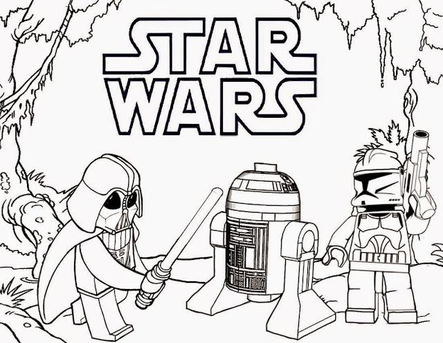Darth Vader: lego star wars vader clon y rd2 imagen para colorear