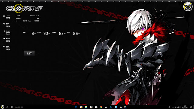 Closers: Side Blacklambs Theme Win 10 Ver. 1803 by Bashkara