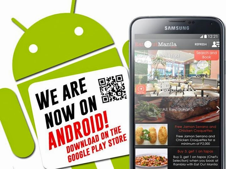 Eat Out Manila app for Android