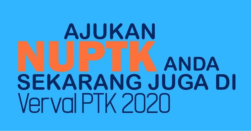 Pengajuan NUPTK pada Verval PTK 2020