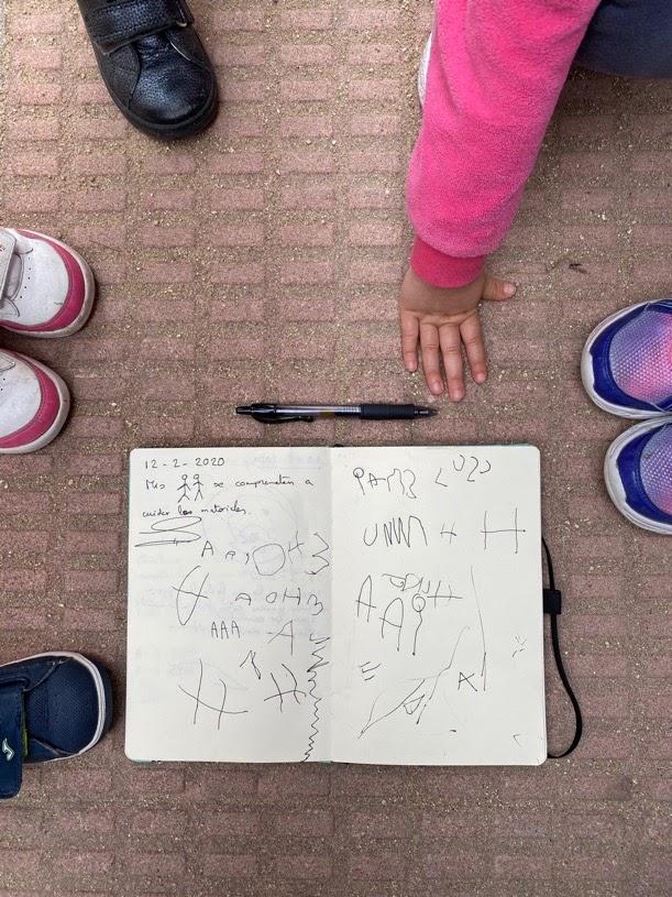 La agenda como base en la asamblea de educación infantil.
