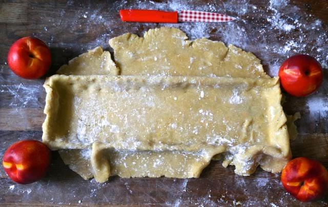 yellow nectarine tart