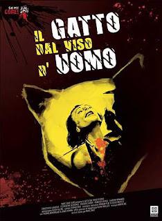 IL GATTO DAL VISO D'UOMO, jaquette dvd oh my gore, giallo, Marc Dray