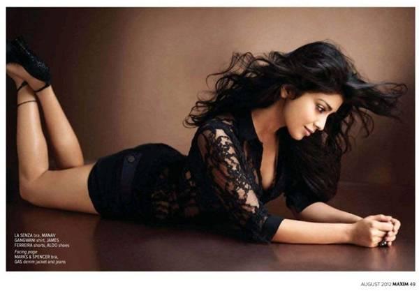 Bollywood Actresses In Maxim: Shriya Saran Photoshoot For Maxim India