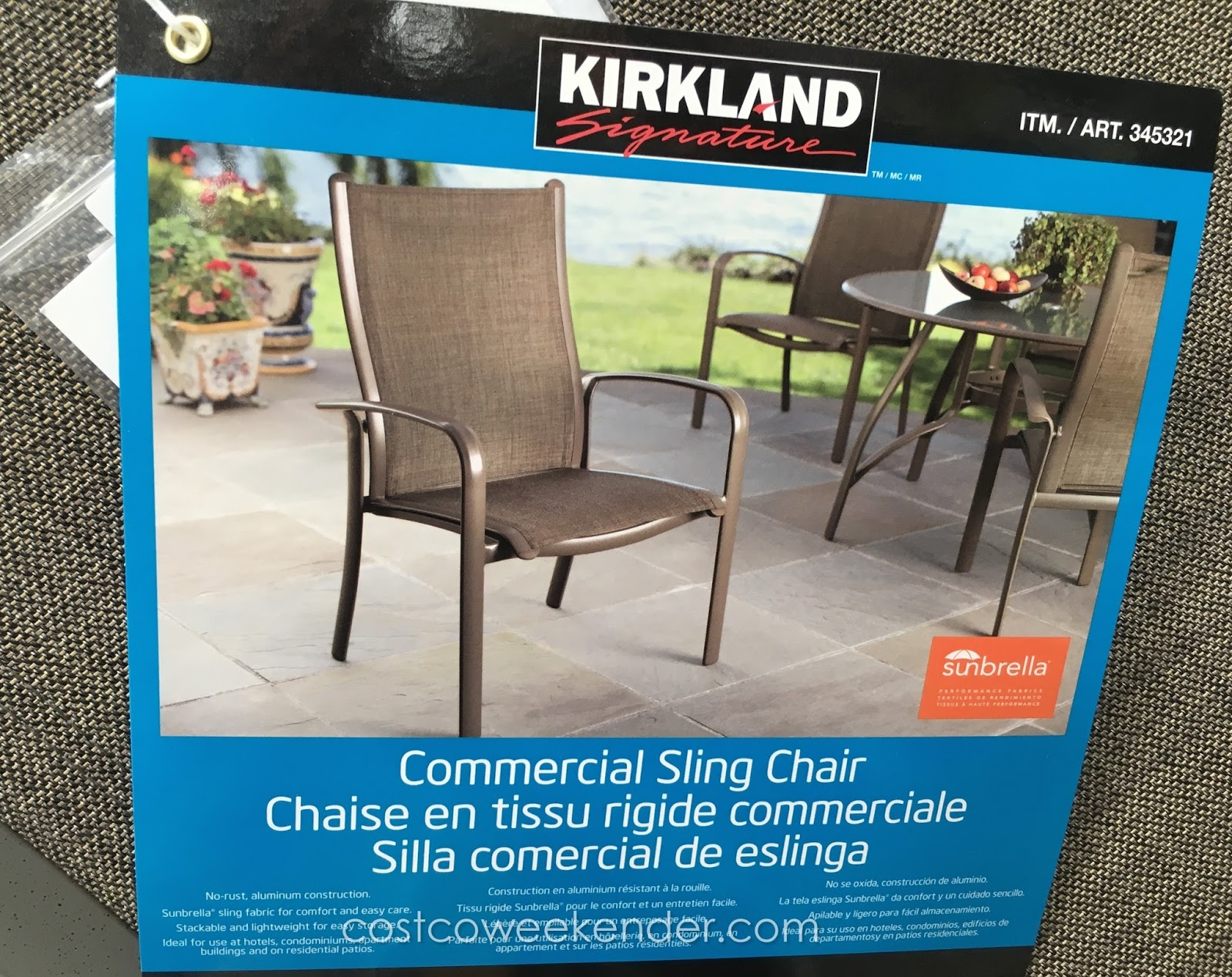 Kirkland mercial Sling Chair
