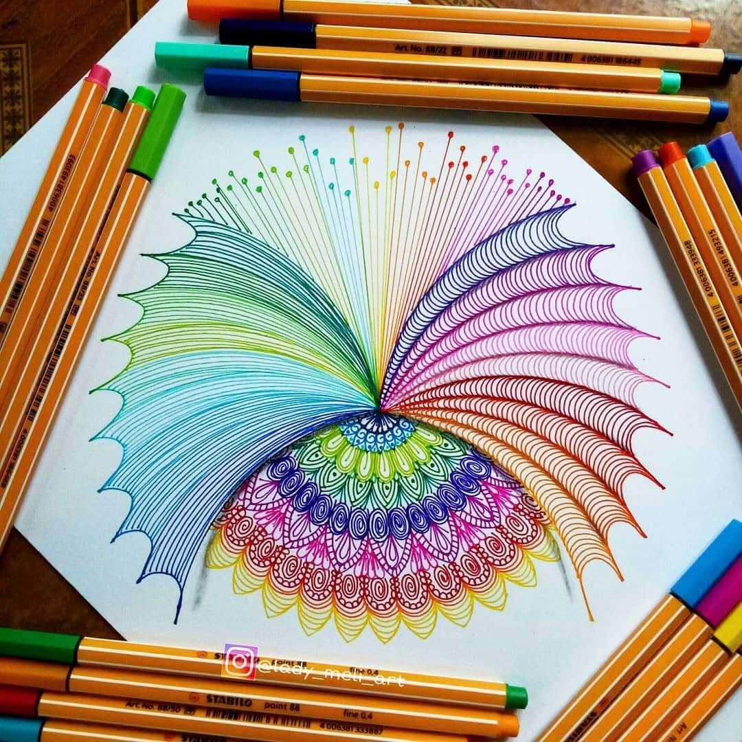 07-lady-meli-art-Colored-Pens-and-Geometric-Mandalas-Zentangles-Doodles-www-designstack-co