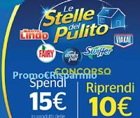 Logo Le Stelle del Pulito 2020 : spendi 15€ e riprendi 10€ in buoni spesa