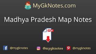 Madhya Pradesh Map Notes PDF in Hindi