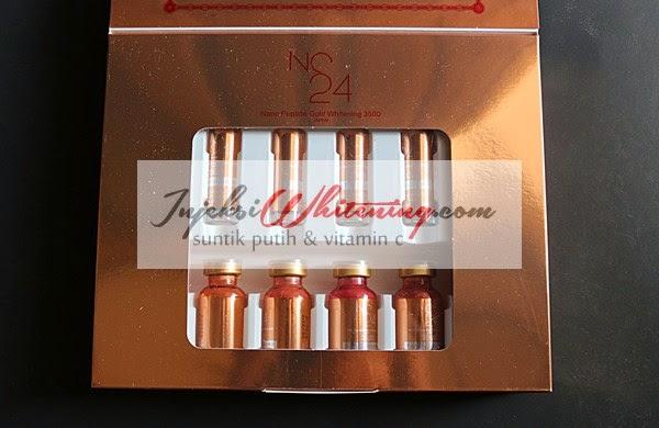 NC24 Nano Peptide Gold Whitening 3500 Japan, injeksi whitening nc24, nc24 whitening, nc24 whitening gold, nc24 whitening original