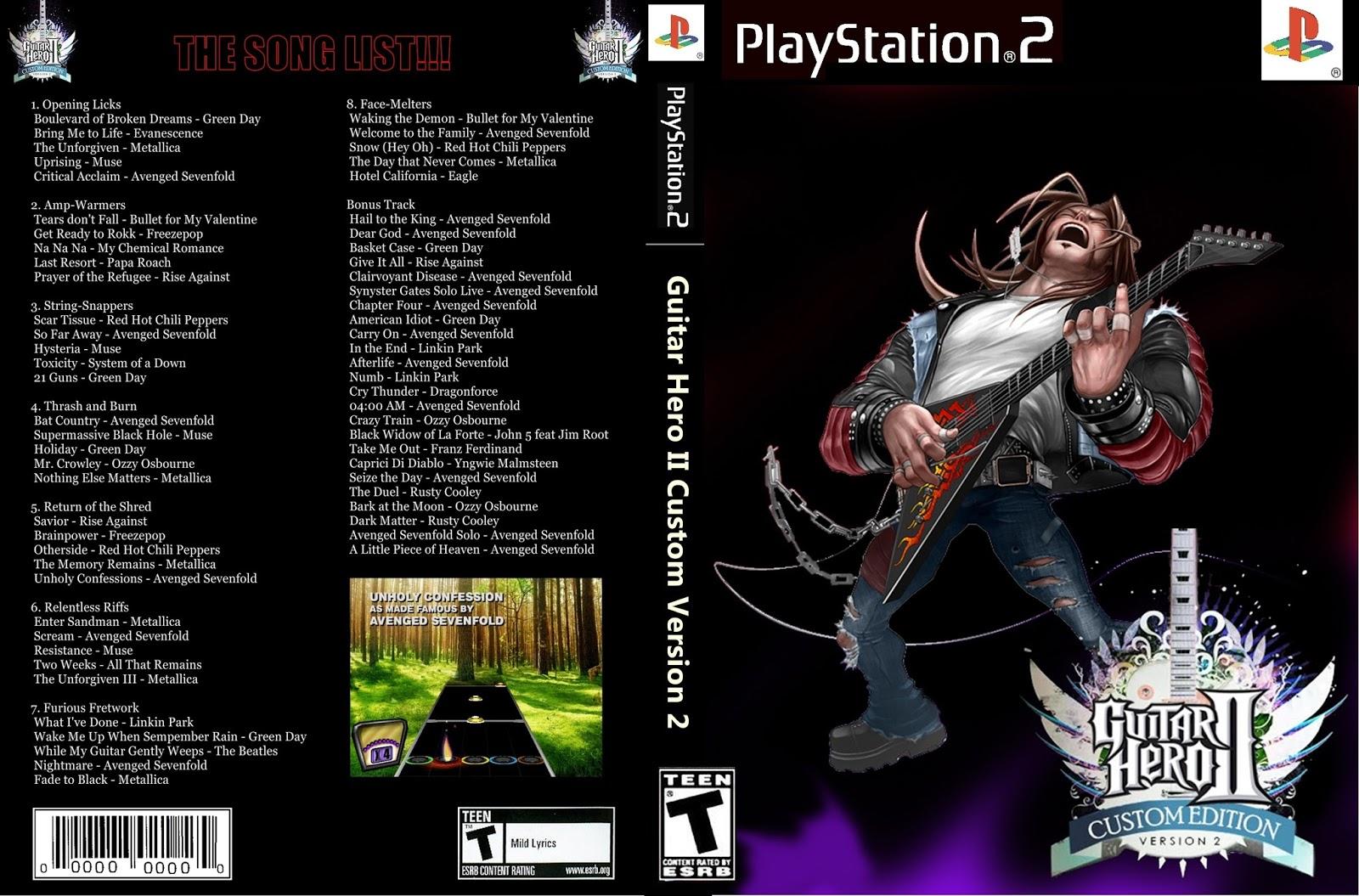 guitar hero 3 metallica ps2 iso