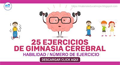 25 EJERCICIOS DE GIMNASIA CEREBRAL