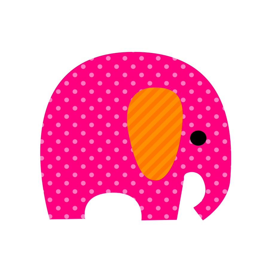 Cute Colored Elephants Clipart Oh My Fiesta For Ladies