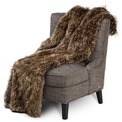 Braeburn Faux Fur Throw by Michael Amini