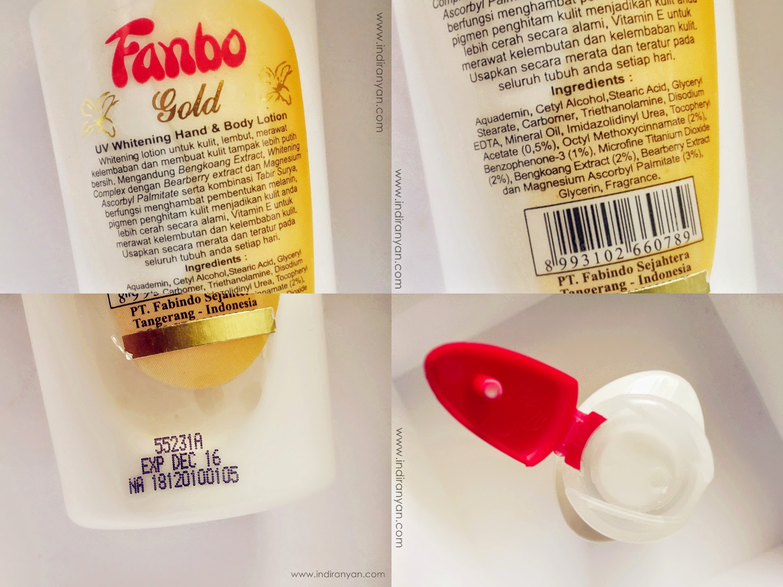Fanbo Gold UV Whitening Hand & Body Lotion