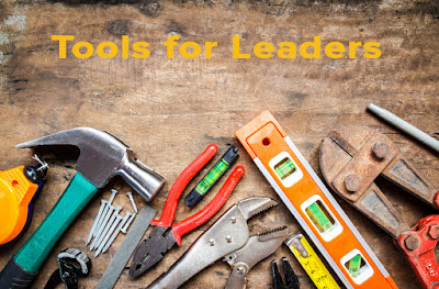An array of workman's tools that show what is needed in a Leadership Toolkit