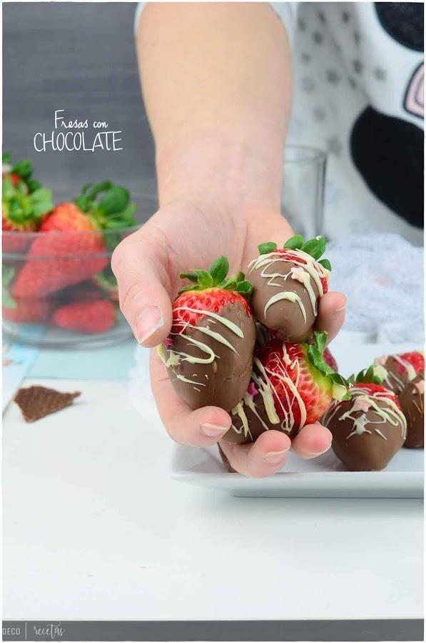 Fresas con chocolate-Saca el máximo partido a tus fresas - Fresas cubiertas de chocolate- como hacer fresas con chocolate- Receta: fresas con chocolate- receta de fresas con chocolate blanco