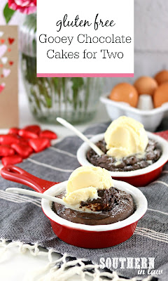 Gluten Free Gooey Chocolate Cakes for Two Recipe