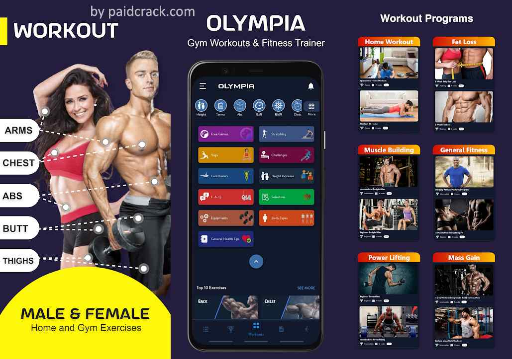 Olympia Pro - Gym Workout & Fitness Trainer Mod Apk  21.3.1