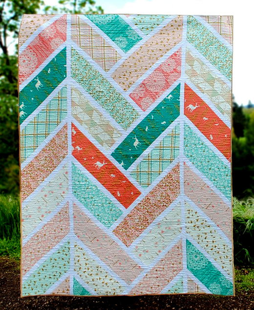 The Broken Herringbone Quilt Free Tutorial