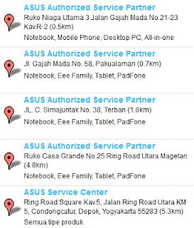 Service Center ASUS jogja