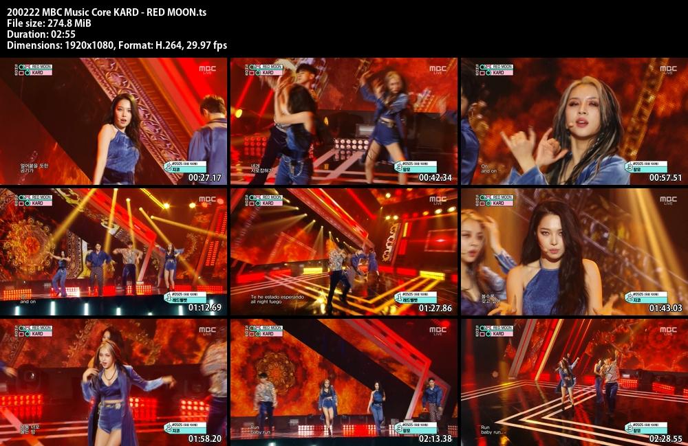Music Core , KARD , RED MOON , 1080p , Kpop, 2020