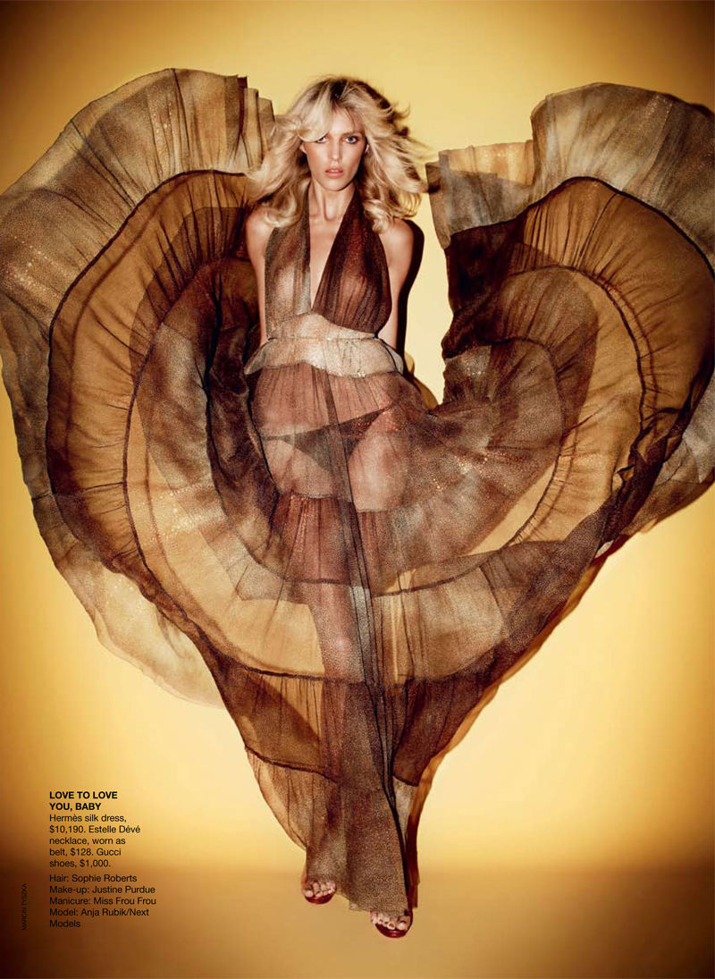 ash to gold style crush anja rubik for vogue australia