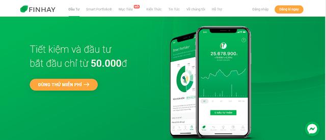 Ứng dụng Finhay tiết kiệm và đầu tư bắt đầu từ 50 nghìn đồng
