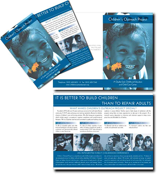 Children's outreach project brochure