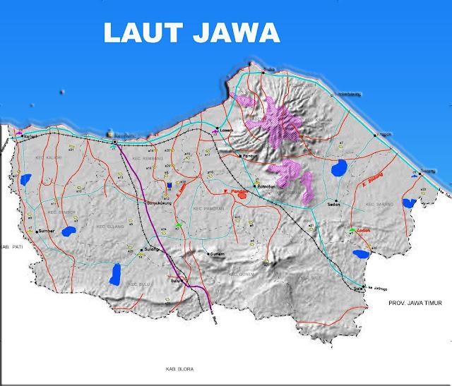 Gambar Peta Infrastruktur Kabupaten Rembang