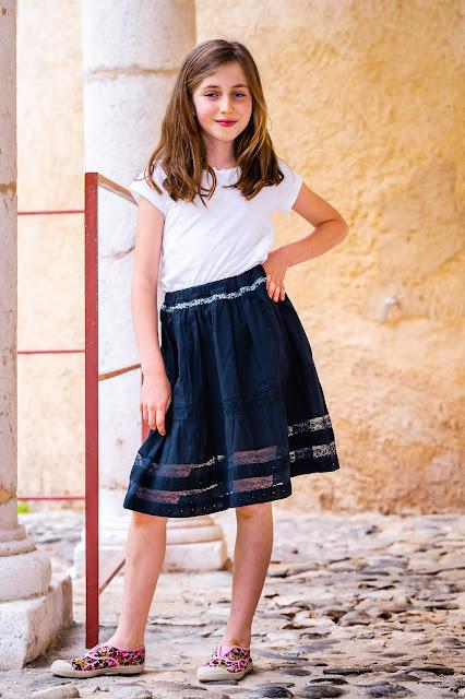 Elleanor de Provence jupe noire enfant
