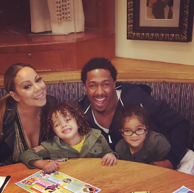 MARIAH CAREY AND NICK CANNON HAVE DINNER WITH THEIR KIDS