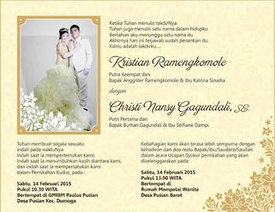 contoh iklan undangan pernikahan
