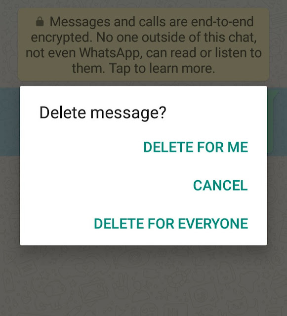 Enable delete for everyone on WhatsApp after time limit